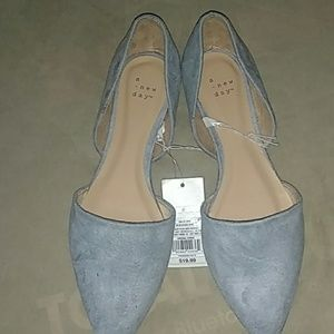 Blueish grey women shoes